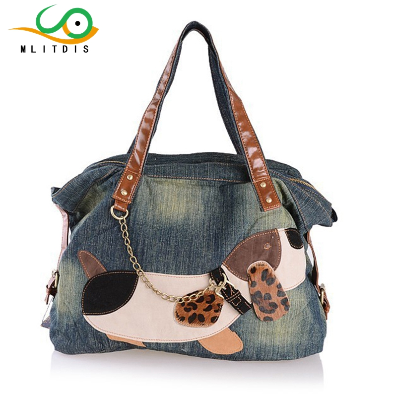 ФОТО MLITDIS Winter 2017 Korean version of the new denim zipper pocket portable bag ladies internal interval
