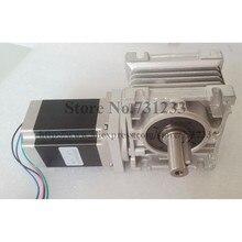 NEMA 34 Worm Reducer Stepper Motor 7.5:1~80:1 Motor Length 114mm 8.2N.m (1139oz-in)Nema 34 Worm Gear Stepper Motor CE ROHS цены