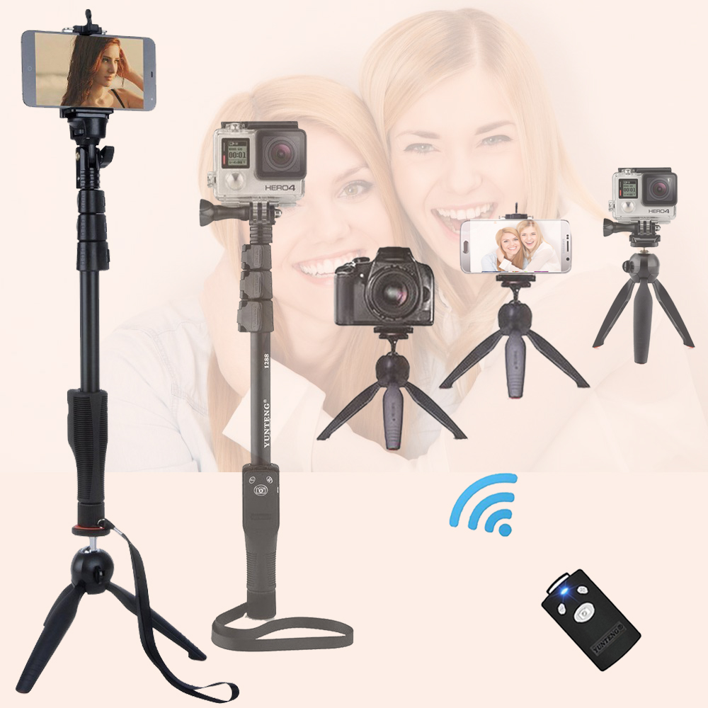 Yt-1288 Camera Bluetooth Selfie Stick Self-portrait Monopod Palo Selfie Bluetooth For Iphone 7 6 6s Plus Xiaomi Samsung phone