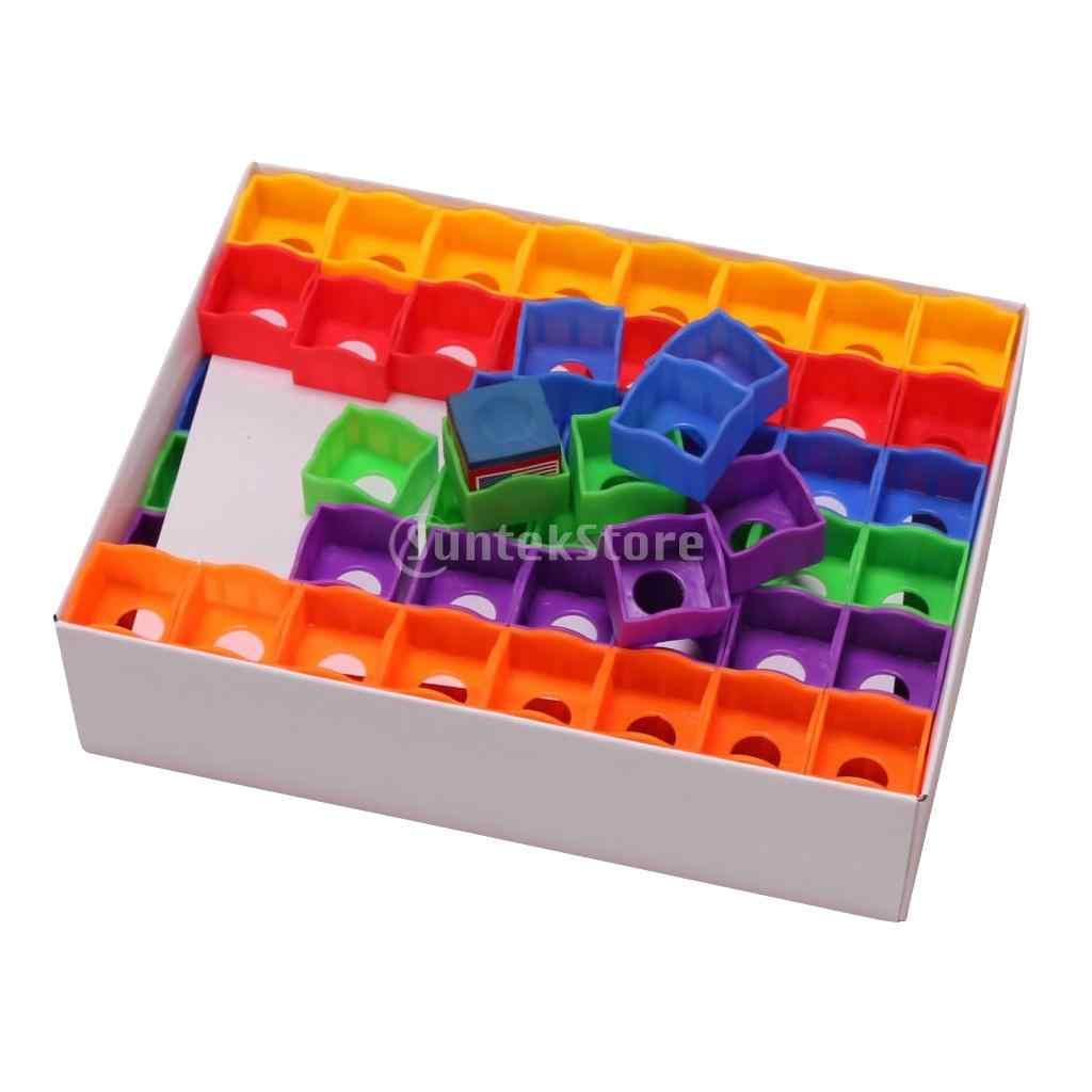 Przenośny 144 sztuk/pudło wielobarwny snooker kij bilardowy wskazówka kreda posiadacze przypadki dla bilard Player Club Pool Bar