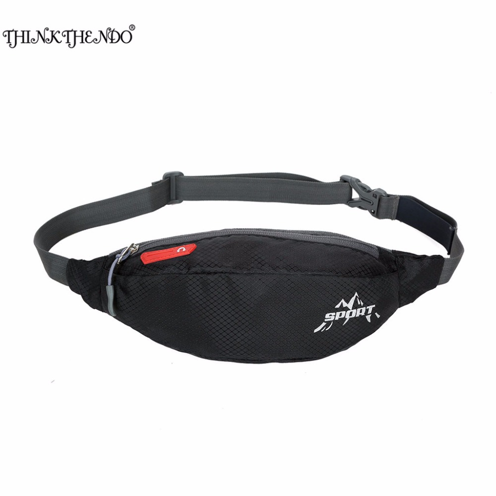 THINKTHEND Unisex New Fashion Women Men Portable Travelling Nylon Waist Belt Pack Bag Pouch 6 Colors