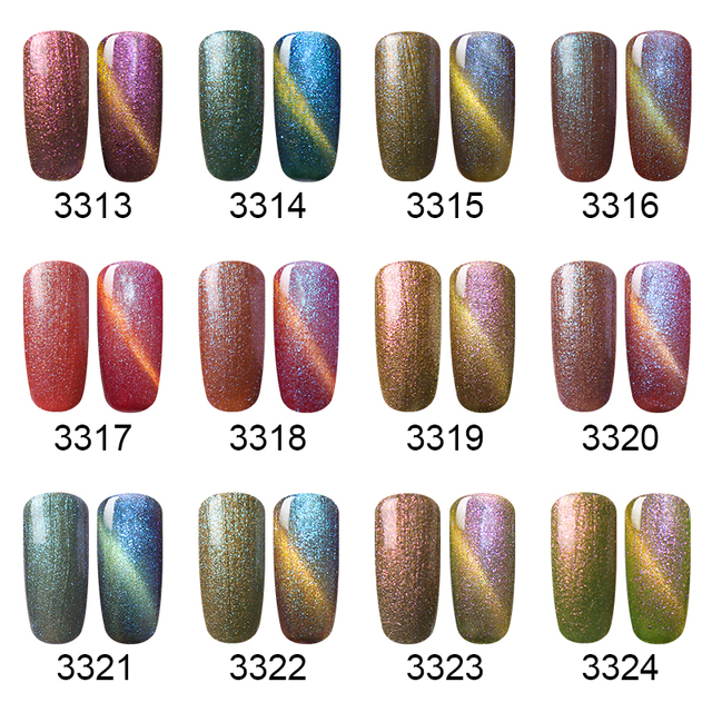 Elite99 3D Chameleon Katze Augen UV Gel Tränken Weg Magnetische Nagellack Nail art Led UV Gel Nagellacke glitter Gel