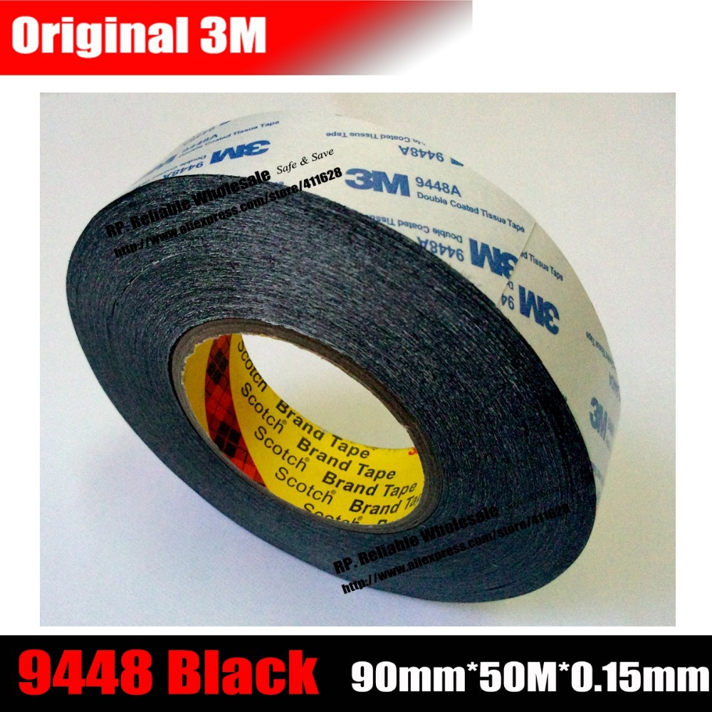 (90mm*50M*0.15mm) 9cm 3M Double Sided Sticky Tape for Electronical Board Panel, Housing LCD Sticky, *Customize Width Cut Accept* 10mm 20m 0 5mm double sided black sticky sponge foam tape gasket for android machine mainboard tablet panel seal dust proof