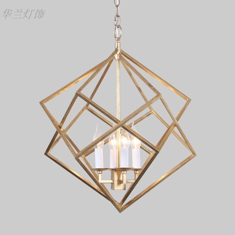 Modern Gold single ring Pendant Light For Lobby Dining Room Arts Decoration lighting Antique Simple Pendant Lamp E14