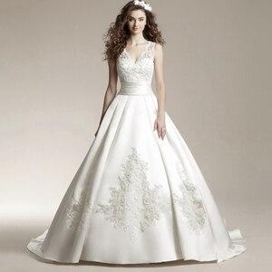 Image 2 - Fansmile New Vestido De Noiva White Lace Wedding Dress 2020 Plus Size Customized Wedding Gowns Bride Dress FSM 456T