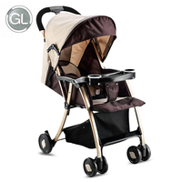 GL Kids Baby Stroller Foldable Infant Pram Alloy Steel Umbrella Cart stroller folding can sit can lie trolley summer winter