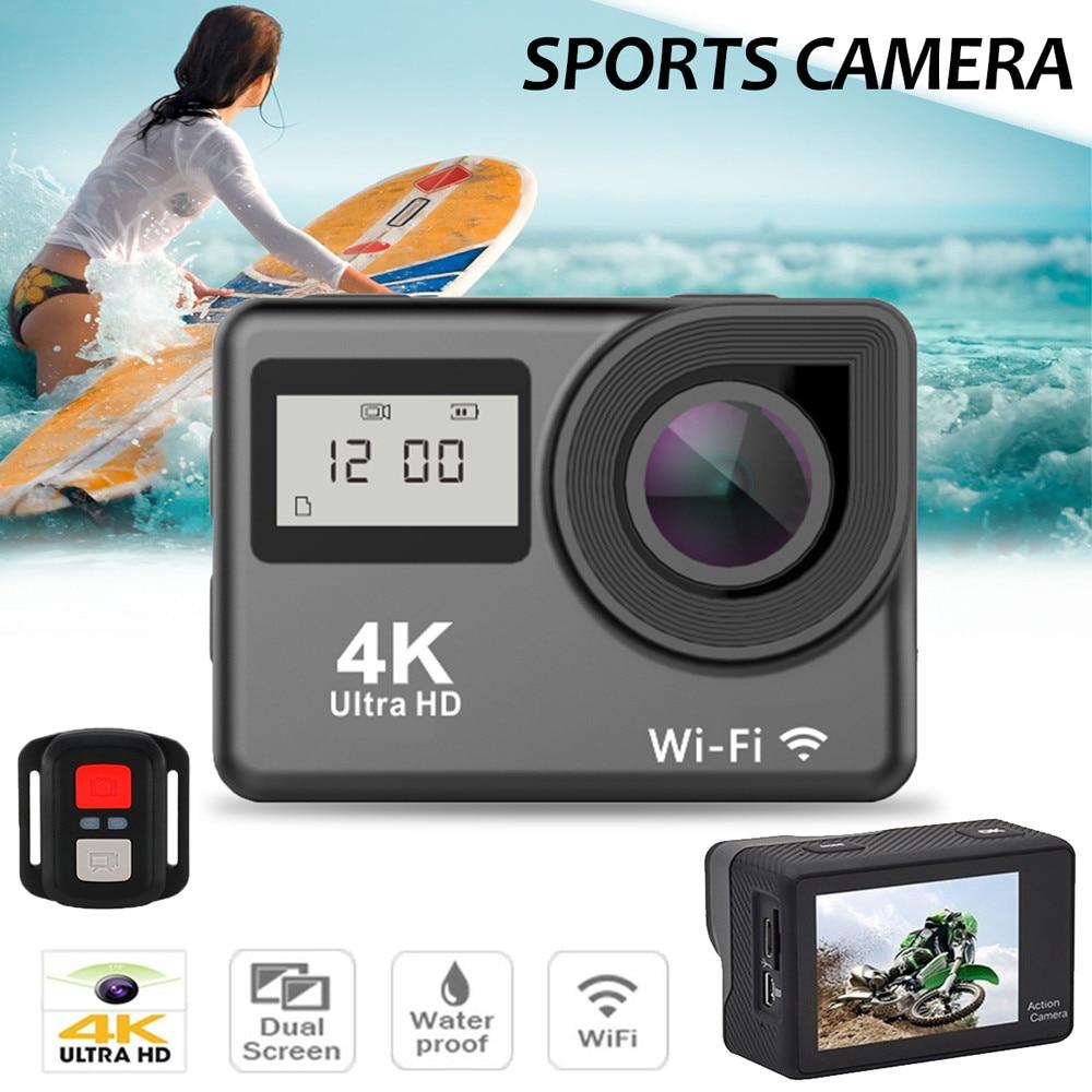 Waterproof 4K Dual Screen Wifi HD 1080P Sports Action Camera DVR Cam Camcorder Jun14 ...