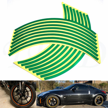 Car motorcycle Tire Rim Stickers 17-19 Reflective Car-Covers Tape Wheel Tyre Sticker Decors For Triumph 675 STREET TRIPLE R image