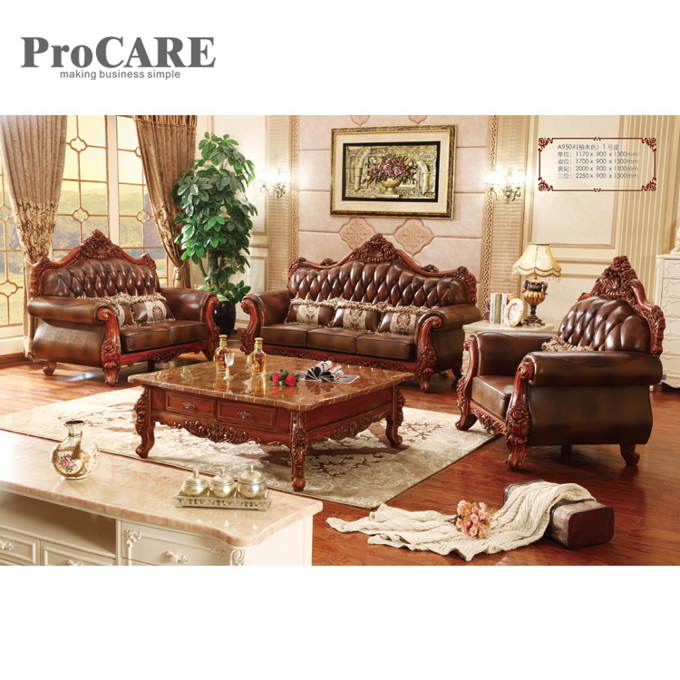 US $3590.0 |Modern Design elegant luxury style brown sofa set with center  table A950B-in Living Room Sofas from Furniture on Aliexpress.com | Alibaba  ...