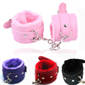Sex Game Handcuffs PU Leather Restraints Bondage Cuffs Roleplay Costume Tools Sex toys for Couples 4 Colors