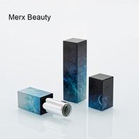 10pcs & 50pcs/lot Starry sky 12.1mm lipstick tube DIY handmade lipstick, Lip Glaze lipstick tube blue magnetic buckle tube