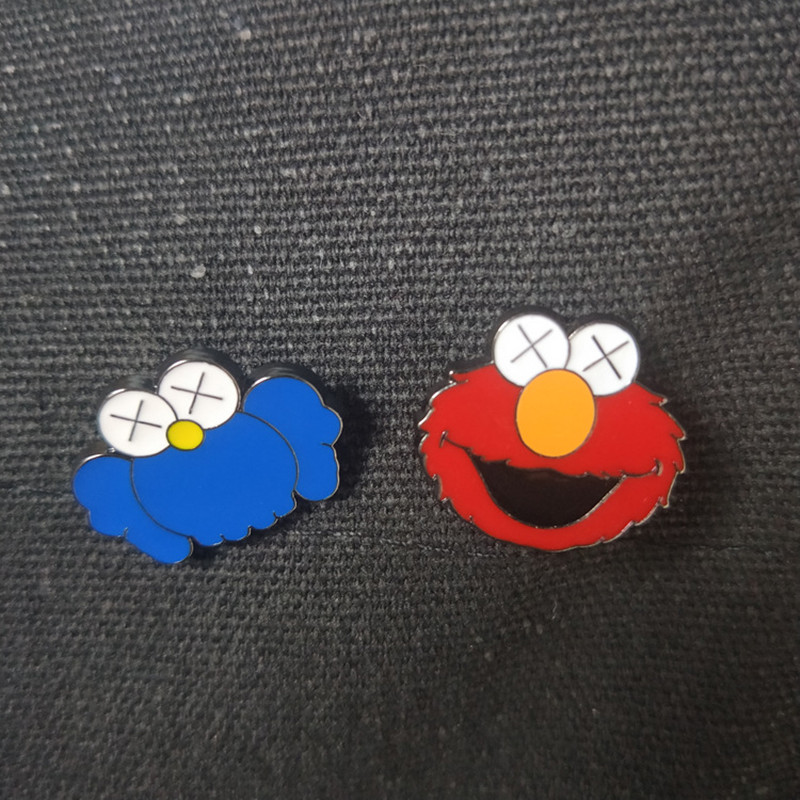 Cartoon Sesame Street Brooch Spot Alloy Cartoon Small Brooch Emblem
