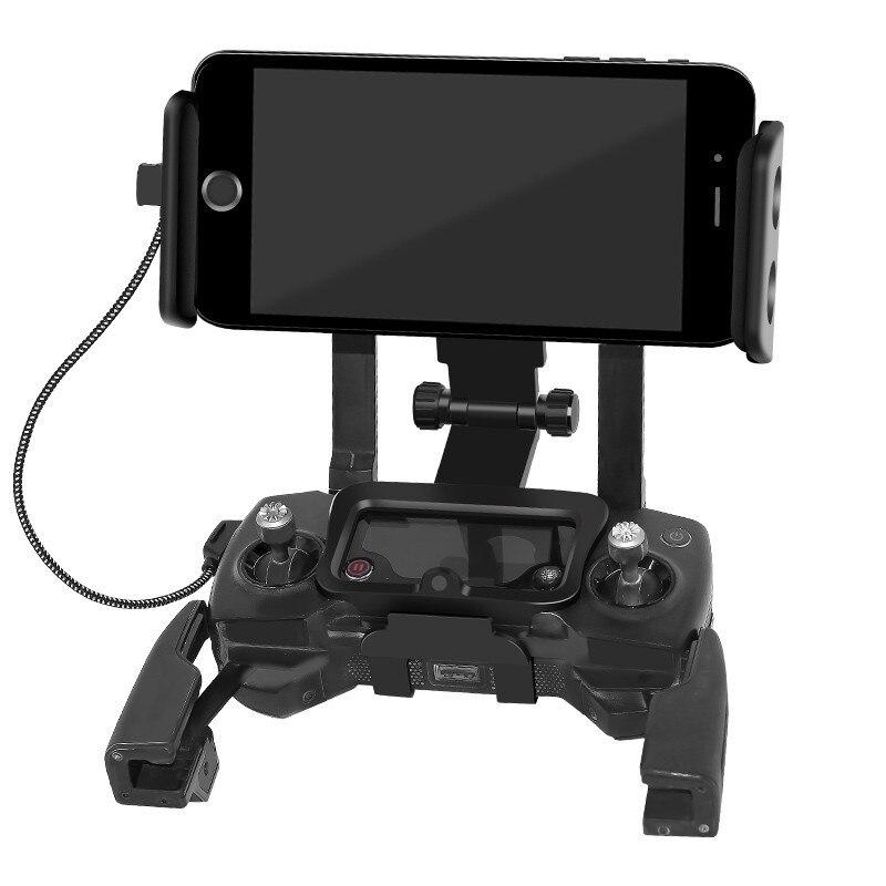 BRDRC DJI Spark Remote Controller Phone Clip Tablet Holder Monitor Bracket with Strap for DJI font