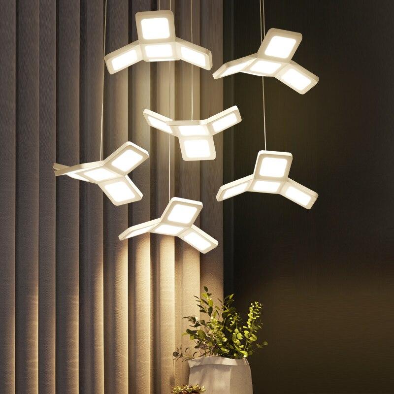 Modern LED Pendant Lights Living Dining Room Decoration Dimming Hanging Loft Light Plafondlamp AC85~265V pendant lamp lamparas a1 master bedroom living room lamp crystal pendant lights dining room lamp european style dual use fashion pendant lamps