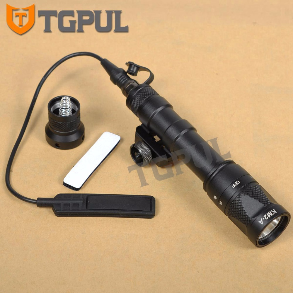 TGPUL M600V Scout Light IR Night Vision Light Constant /Momentary White Light Rifle Torch Flashlight with Picatinny Rail Mount