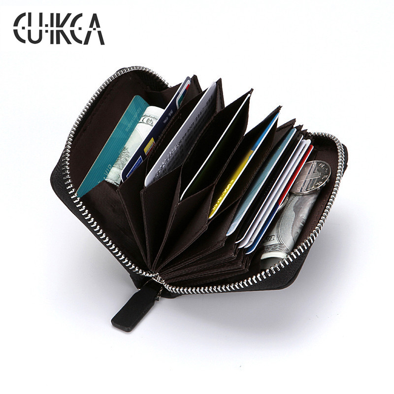 CUIKCA New RFID Wallet Women Men Wallet Carteira Short Nubuck Leather Slim Wallet Zipper Coins Purse ID Credit Card Holder Cases 2016 new pu leather hasp ladies wallet female small short purse for women for coins credit card holder dollar price carteira