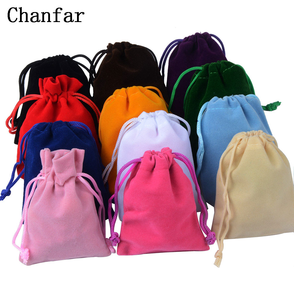 25pcs/Lot 7x9cm Jewelry Packing Velvet Bag,Velvet Drawstring Bags & Pouches