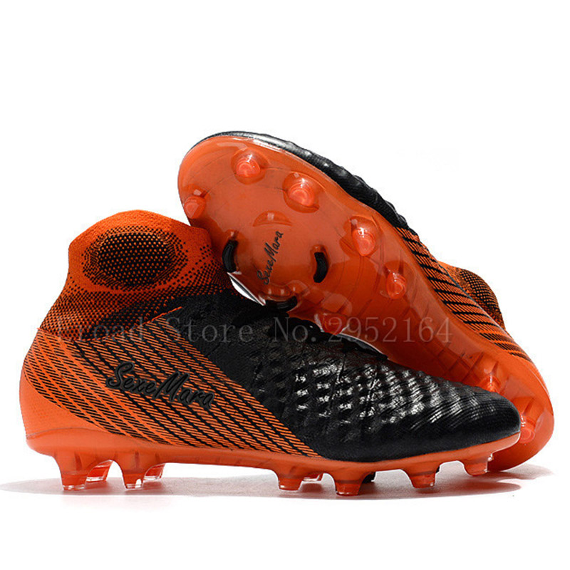 Football Shoes Outdoor Soccer Shoes Men High Ankle Football Boots Original FG Soccer Cleats 2018 Profissional Sapatos De Futebol tiebao a8324a hg tpu outsole football shoes women men outdoor lawn soccer boots lace up football boots soccer cleat sneaker