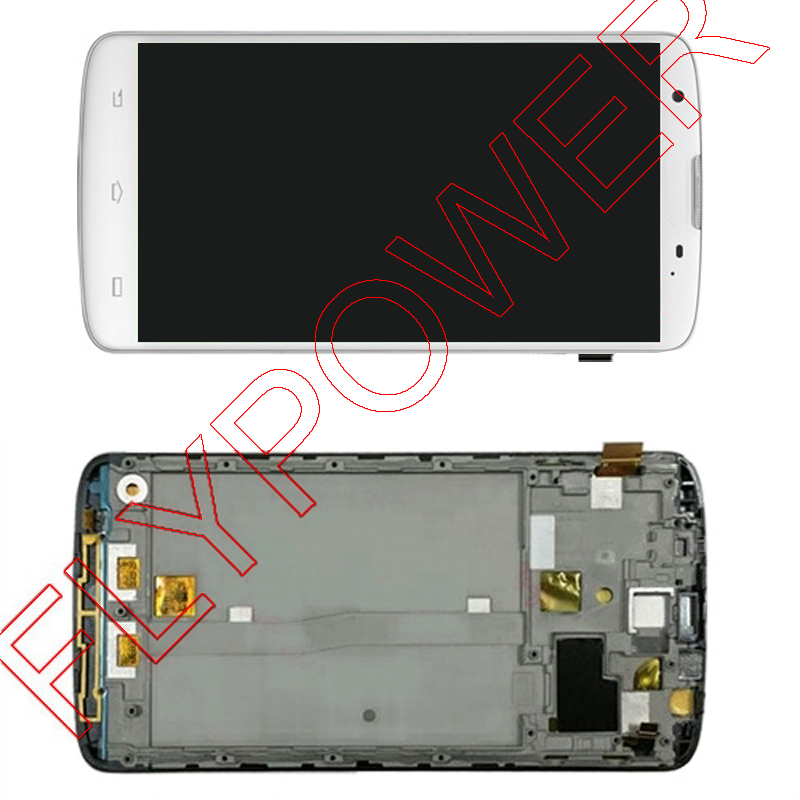 ФОТО For Philips i928 LCD Screen Display with Touch Screen Digitizer Assembly+frame by free shipping; White; 100% warranty