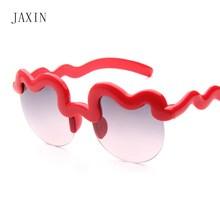 JAXIN Personality half pack Child Sunglasses Kids UV protection cute Boy Sunglasses Girl