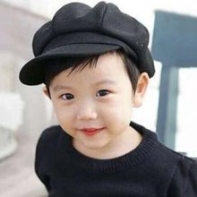 Kids Baby Boy Girl Cute Infant Toddler Soft Beret Cap Dome Octagonal Hat Basebal