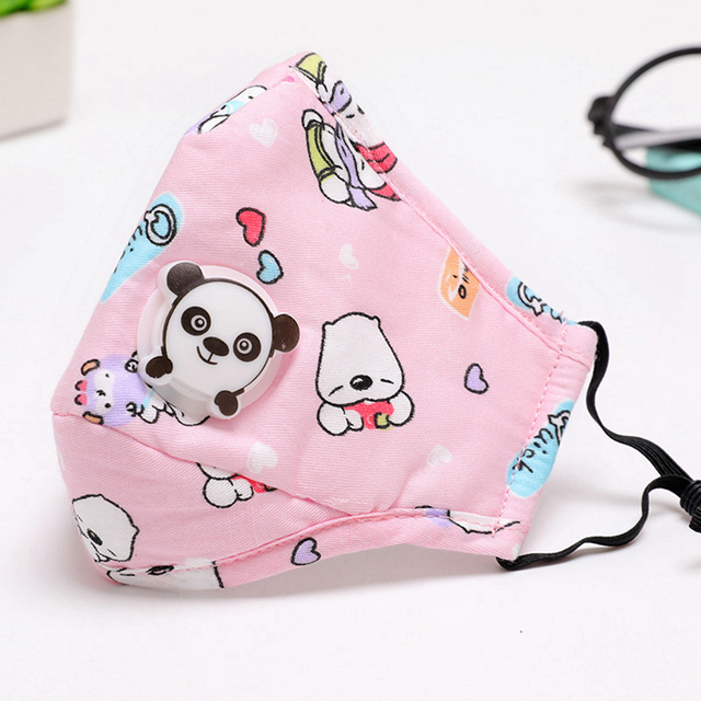 3PCS Mouth Mask Cartoon Warm Breathable Half Face Mask Mouth Cover for Children kids Girls Boys 1