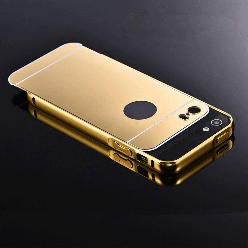 For Iphone 5 5s Metal Cases Bumper Case Golden Plating Aluminum