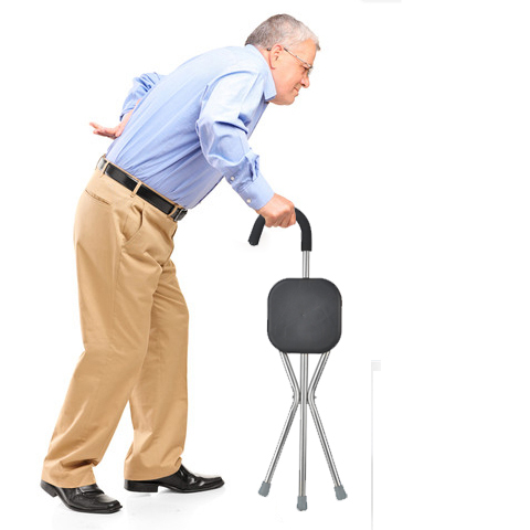 Old Lightweight And Lightweight Non-slip Cane Stool Elderly Three-foot Folding Can Take The Cane Stool Bench