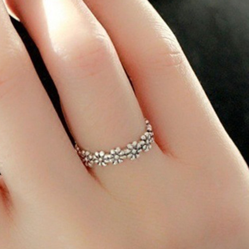 Finger-Ring Jewelry Flower Wedding Women Cute for Girls Wholesale Daisy Unique