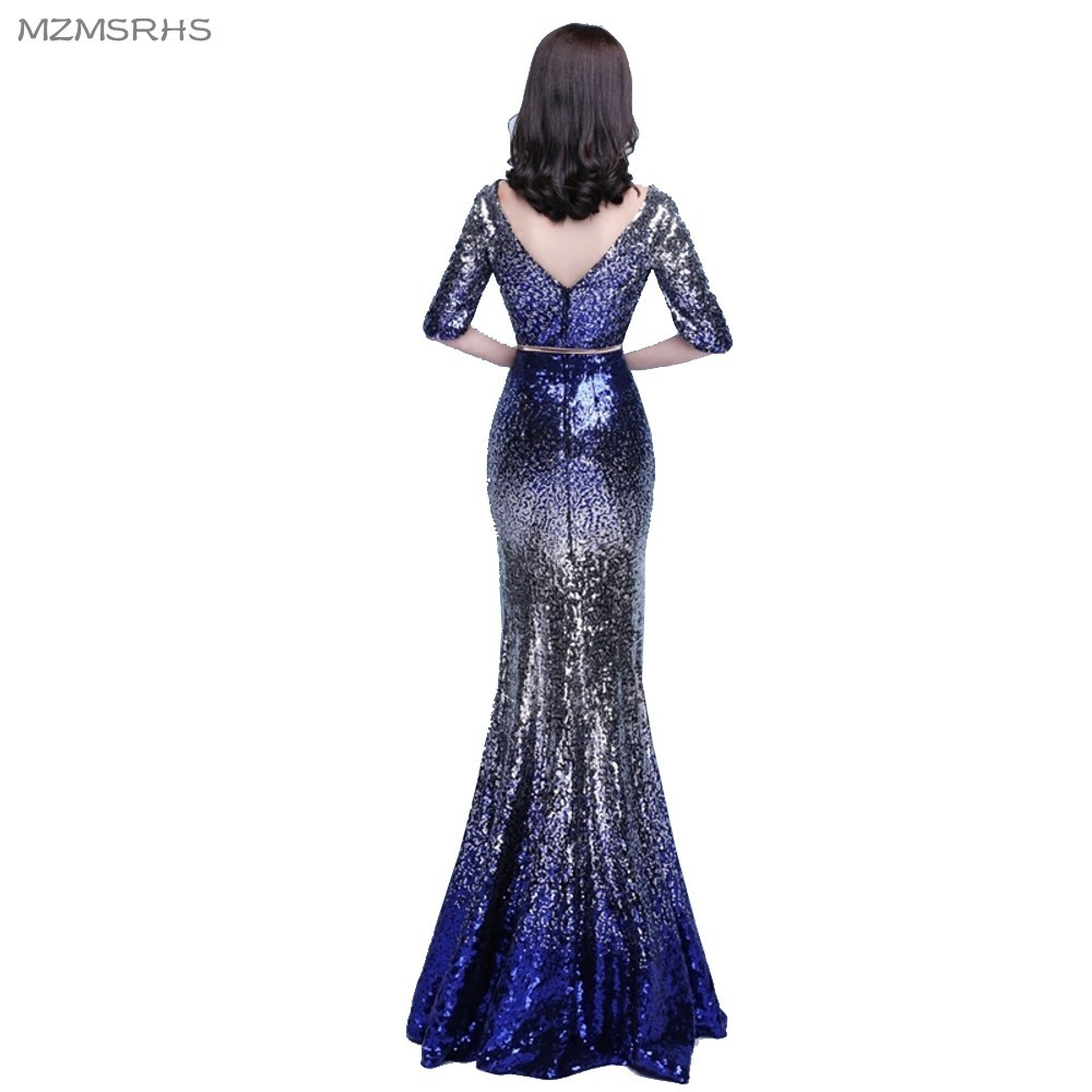MZMSRHS Robe De Soiree Nieuwe Collectie Mermaid Half Mouwen V-hals - Jurken voor bijzondere gelegenheden - Foto 2