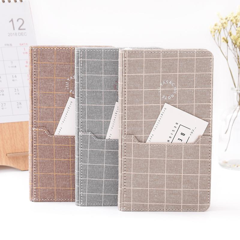 Plaid Cloth Notebook Diary Notepad Vintage Fashion Note Book Stationery Gift Travelers Notebook School Supplies