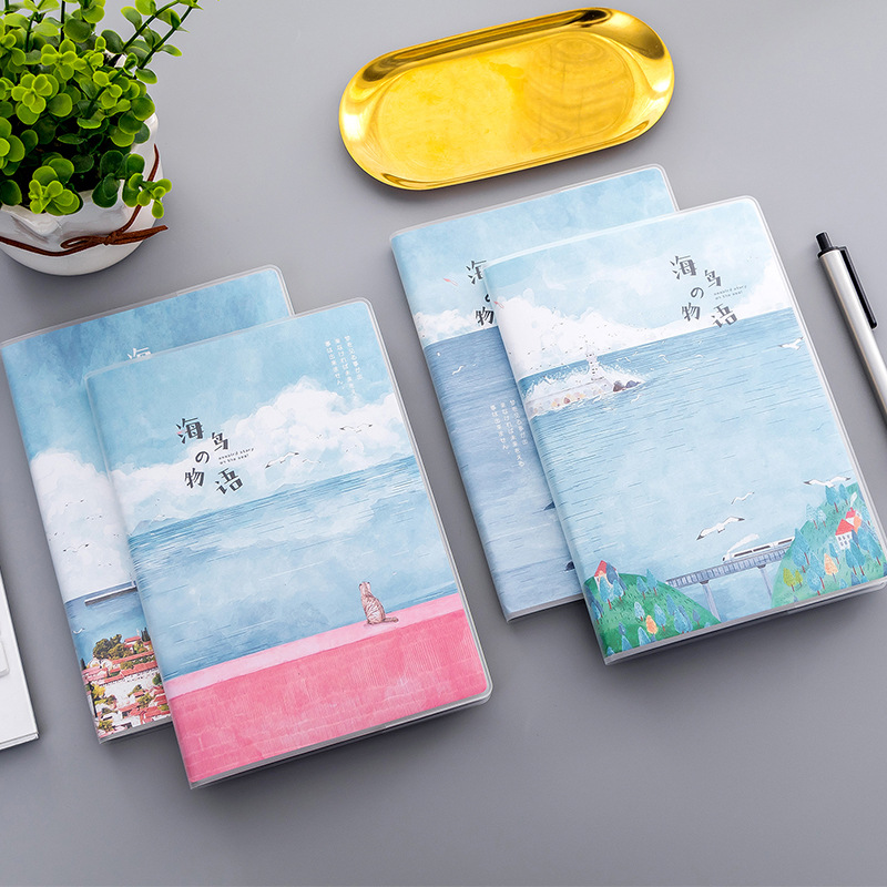 Fresh And Simple Notebook Cartoon Diary Planner Notepad Paper For School Students 32K Plastic Sleeves Colorful Diary Book cartoon my world minecraft note book cute anime kraft paper notebook for school writing sketch painting diary planner notepad