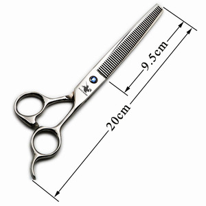 Image 2 - Siyah şövalye 7.5 inç profesyonel Pet saç makas kuaförlük berber köpek tımar inceltme makasları 48 diş