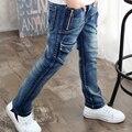 Primavera 2016 calças de crianças de jeans outono grande union jack calças crianças calças jeans para crianças desgaste