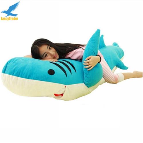 Fancytrader Huge Giant Shark Sleeping Bag Beanbag Sofa Bed Carpet Tatami Plush Stuffed 2 Colors FT90358 (2)