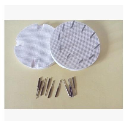 2Pcs +20pcs metal nails 72mm Dental Lab Material Single Metal Nails For Holding Porcelain Sintering