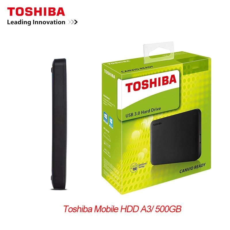 New TOSHIBA 500GB External HDD Portable Hard Drive Disk HD 2.5
