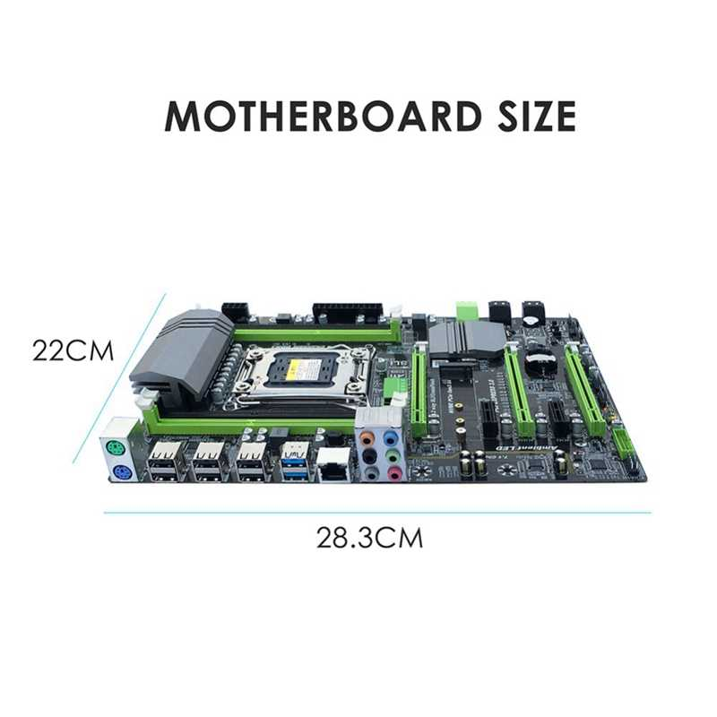 X79T Ddr3 PC Desktop Motherboard LGA 2011 CPU Komputer 4 Channel Game Dukungan M.2 E5-2680V2 I7 SATA 3.0 USB 3.0 untuk Intel B