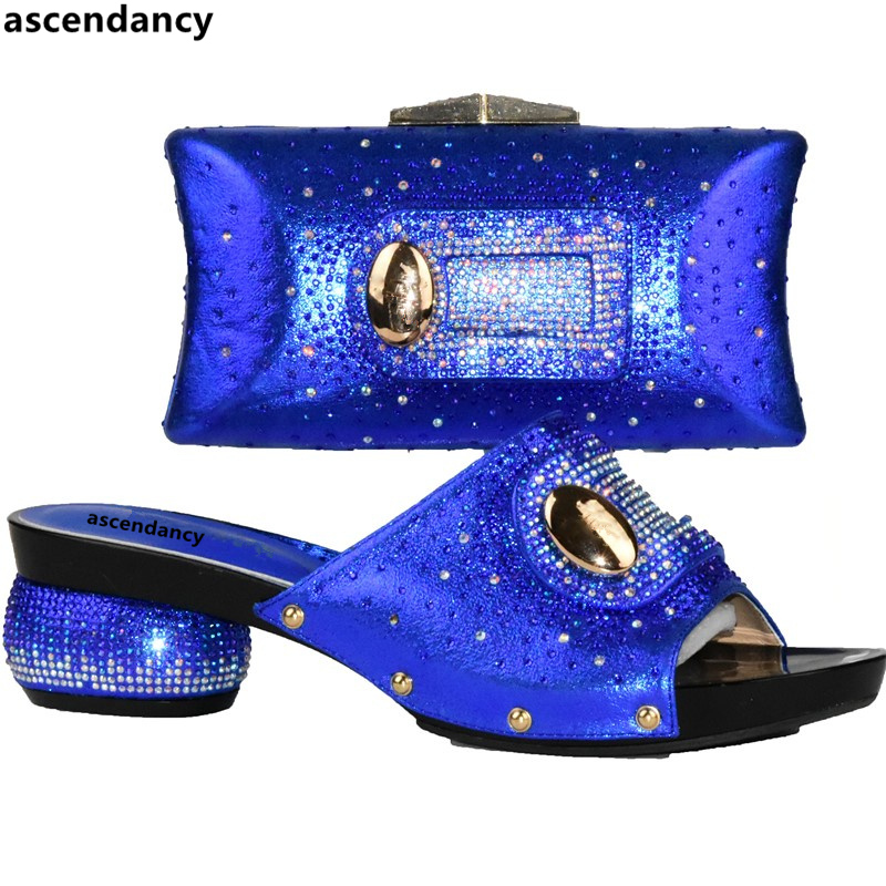 Juego oro Con En Y A rojo Zapatos Bolsas Fiestas Mujeres Para Bolsos Diamantes verde Italia Africanos De Negro blue Imitación Italianos Decorados U0nUArO