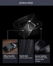 Luxury men belts for men automatic buckle top high quality durable Natural grain leather 35mm wide CZ019