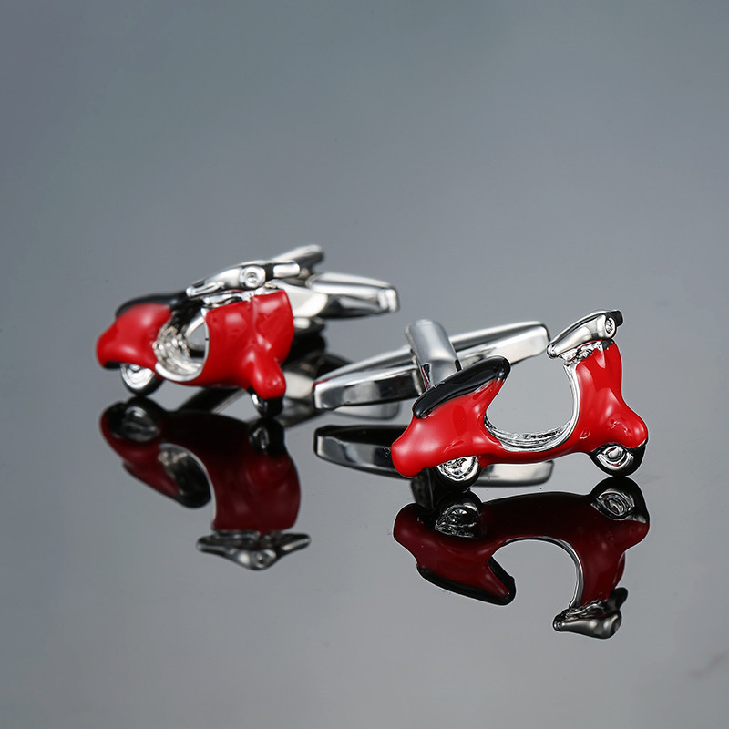 XK667 High quality mens red car battery Cufflinks Cufflinks French business shirt accessories