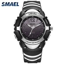 SMAEL Black Kids Digital Watch Waterproof Electronic Clocks LED Display Cool Children Watch Gift 0616c Sport Watches Smart Kids