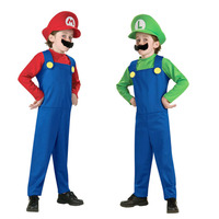 Super Mary Mario Costume Mushroom Family Costume Adult Cosplay Halloween Carnival Costumes Fantasia Fancy Dress Party
