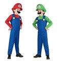 Super mario maría traje ropa cosplay para adultos disfraces de halloween carnaval diversión mushroom family fancy dress party supplies