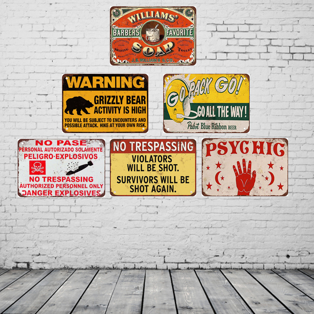 go pack go vintage metal sign posters home decoration accessories