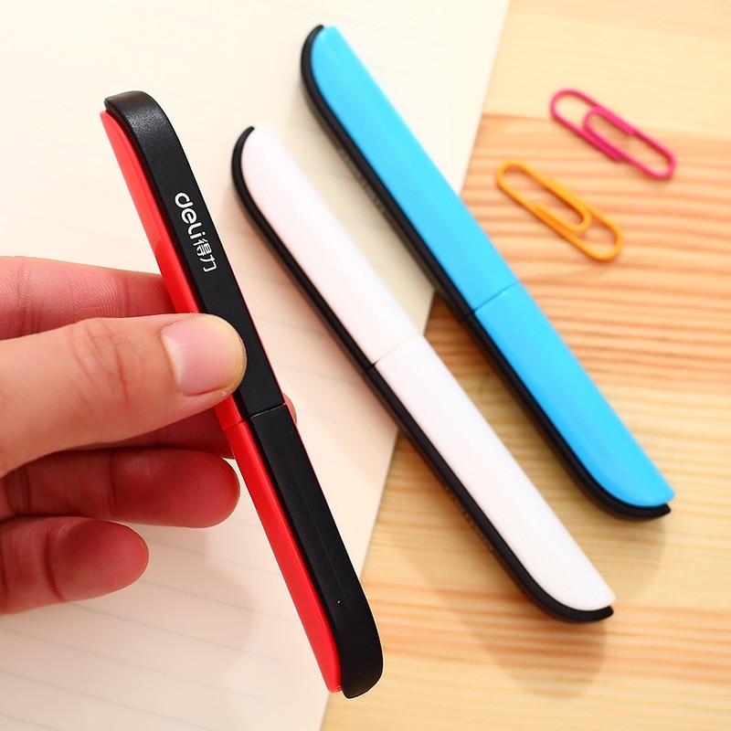 Deli 0600 Portable Scissors Paper-cutting Pocket Scissors Folding Safety Scissors