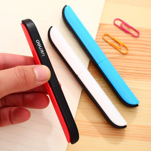 Free shipping deli 0600 portable scissors paper-cutting pocket scissors folding safety scissors цена и фото
