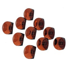 10pcs Copper Coated 1inch Corner Cube Prism 25.4mm Trihedral Retroreflector