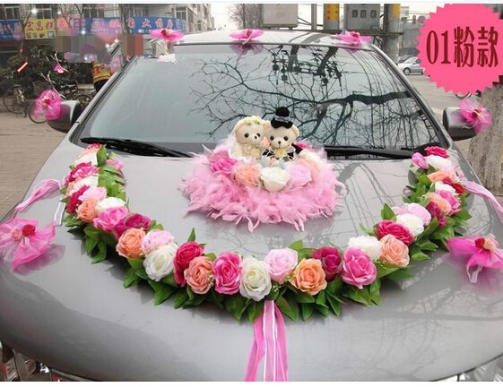 Free shippingnew styles married celebrate supplies furnished car free shippingnew styles married celebrate supplies furnished car floats decorated wedding car decoration wedding flowers in artificial dried flowers from junglespirit Image collections