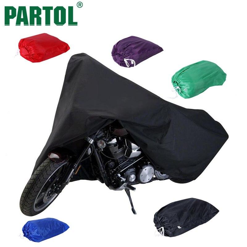 Partol Multi-Color L/XXL/XXXL Waterproof Outdoor UV/Dust Protector Bike Rain Dustproof Cover For Motorcycle Scooter Motocross